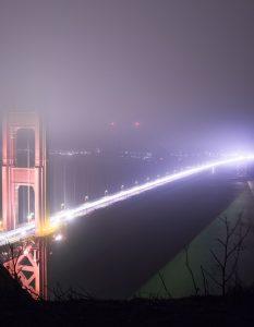 Golden Gate Bridge, After Dark, SF